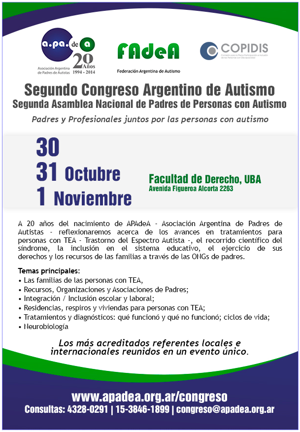 2do. Congreso Argentino de Autismo