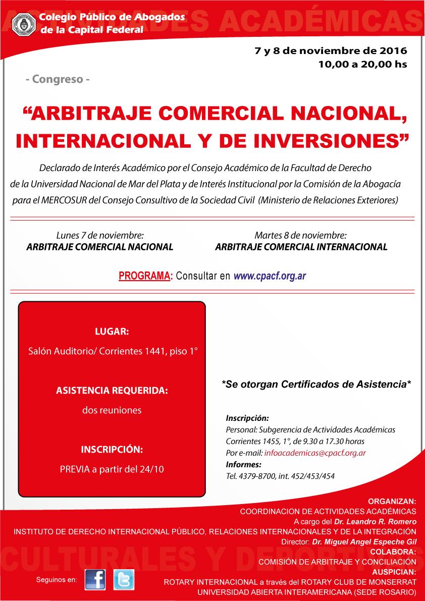 Congreso de arbitraje comercial nacional internacional y for Oficina nacional de fiscalidad internacional