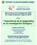 "Flyer Beca Interna de Investigación ""Dr. César Ambrosio Tognoni 2016"""