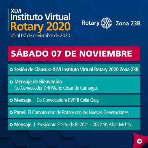 XLVI Instituto Virtual Rotary 2020 Z23B